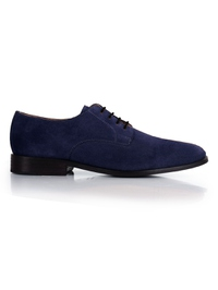 Dark Blue Premium Plain Derby main shoe image