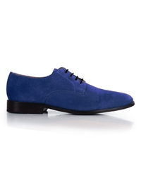 Navy Premium Plain Derby main shoe image