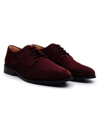 Burgundy Premium Plain Derby alternate shoe image