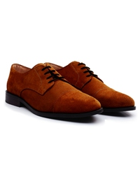 Tan Premium Toecap Derby alternate shoe image