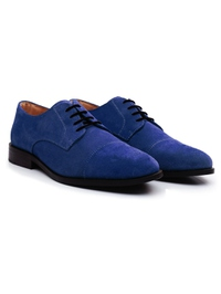 Navy Premium Toecap Derby alternate shoe image