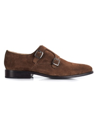 Brown Premium Double Strap Monk main shoe image