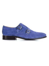 Navy Premium Double Strap Monk main shoe image