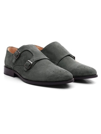 Gray Premium Double Strap Monk alternate shoe image