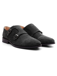 Black Premium Double Strap Toecap Monk alternate shoe image