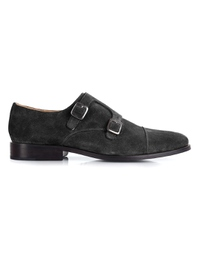 Black Premium Double Strap Toecap Monk main shoe image