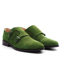 Dark Green Premium Double Strap Toecap Monk alternate shoe image
