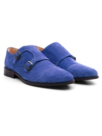 Navy Premium Double Strap Toecap Monk alternate shoe image