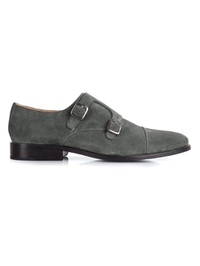 Gray Premium Double Strap Toecap Monk main shoe image