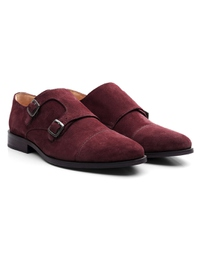 Burgundy Premium Double Strap Toecap Monk alternate shoe image