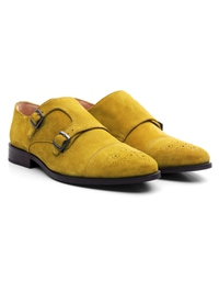 Mustard Premium Double Strap Toecap Monk alternate shoe image