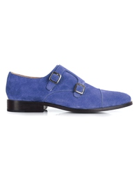 Navy Premium Double Strap Toecap Monk main shoe image