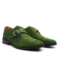 Dark Green Premium Single Strap Monk alternate shoe image