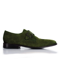 Dark Green Premium Single Strap Monk main shoe image