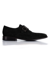 Black Premium Single Strap Toecap Monk main shoe image
