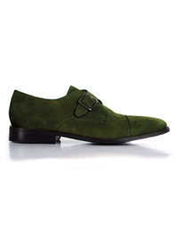 Dark Green Premium Single Strap Toecap Monk main shoe image