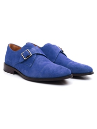 Navy Premium Single Strap Toecap Monk alternate shoe image