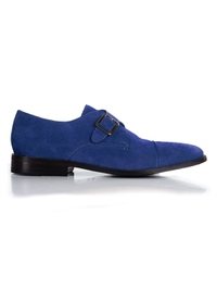 Navy Premium Single Strap Toecap Monk main shoe image