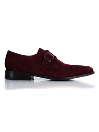 Burgundy Premium Single Strap Toecap Monk main shoe image