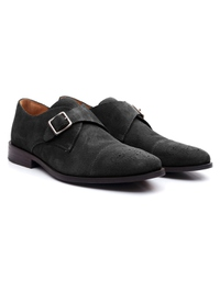 Black Premium Single Strap Toecap Monk alternate shoe image