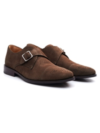 Brown Premium Single Strap Toecap Monk alternate shoe image