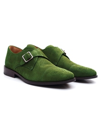 Dark Green Premium Single Strap Toecap Monk alternate shoe image