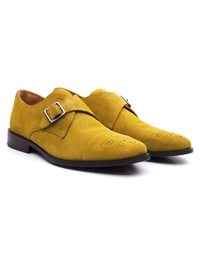 Mustard Premium Single Strap Toecap Monk alternate shoe image