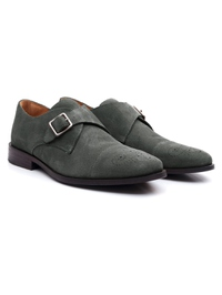 Gray Premium Single Strap Toecap Monk alternate shoe image