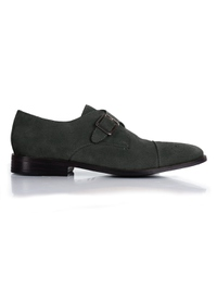Gray Premium Single Strap Toecap Monk main shoe image