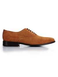 Beige Premium Plain Oxford main shoe image