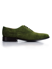 Dark Green Premium Plain Oxford main shoe image