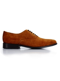 Tan Premium Plain Oxford main shoe image