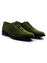 Dark Green Premium Plain Oxford alternate shoe image