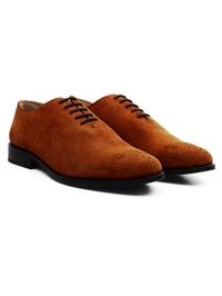Tan Premium Wholecut Oxford alternate shoe image