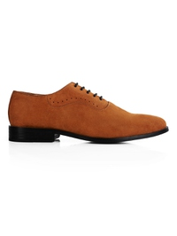 Beige Premium Eyelet Wholecut Oxford main shoe image