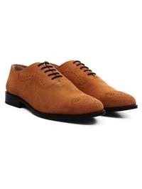 Beige Premium Eyelet Wholecut Oxford alternate shoe image
