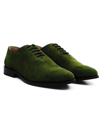 Dark Green Premium Eyelet Wholecut Oxford alternate shoe image