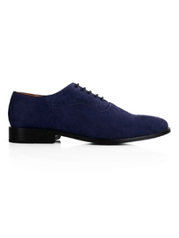 Dark Blue Premium Eyelet Wholecut Oxford main shoe image
