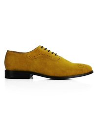 Mustard Premium Eyelet Wholecut Oxford main shoe image
