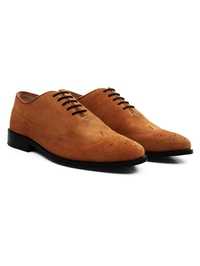 Beige Premium Wingtip Oxford alternate shoe image