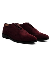 Burgundy Premium Wingtip Oxford alternate shoe image