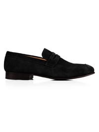Black Premium Apron Halfstrap Slipon main shoe image