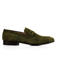 Dark Green Premium Apron Halfstrap Slipon main shoe image