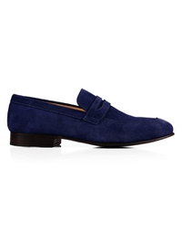 Dark Blue Premium Apron Halfstrap Slipon main shoe image