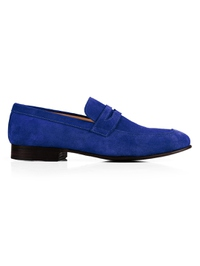 Navy Premium Apron Halfstrap Slipon main shoe image