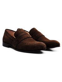 Brown Premium Wingcap Slipon alternate shoe image