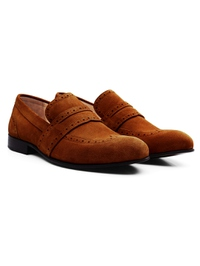 Tan Premium Wingcap Slipon alternate shoe image