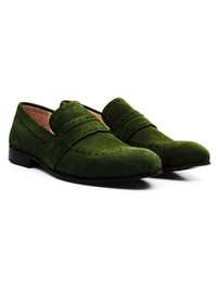 Dark Green Premium Wingcap Slipon alternate shoe image