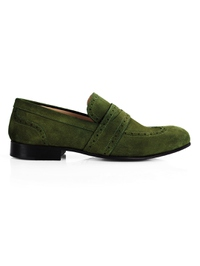 Dark Green Premium Wingcap Slipon main shoe image