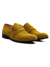 Mustard Premium Wingcap Slipon alternate shoe image